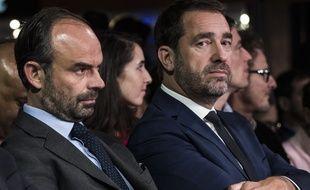 Le Premier ministre Edouard Philippe aux côtés de Christophe Castaner, délégué général du parti présidentiel, maintenu à son poste de secrétaire d'Etat aux Relations avec le Parlement lors du remaniement du 24 novembre 2017.