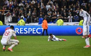 Les Lyonnais très déçus après leur élimination face à l'Ajax en demi-finale de la Ligue Europa, le 11 mai 2017.