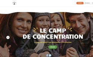 Capture d'écran du site campdeconcentration.com