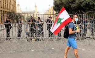 Des Libanais manifestent à Beyrouth pour exprimer leur ras-le-bol de la classe politique, le 9 septembre 2015