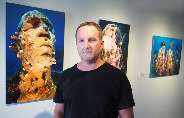 Des photographies des sculptures sous-marines de Jason deCaires Taylor sont exposées tout l'été au fort royal de l'île Sainte-Marguerite