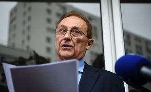 Didier Gailhaguet, l'ancien président de la FFSG, au moment d'annoncer sa démission le 2 juin 2020.