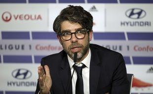Juninho, ici durant sa première conférence de presse mardi en tant que directeur sportif de l'OL.