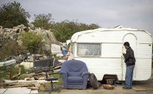 Un camp de Roms dans le Val d'Oise en 2007.