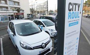 Illustration d'un véhicule en autopartage, ici de la société City Roul', à Rennes.