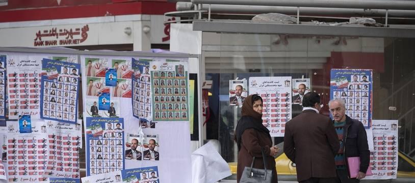 Des affiches électorales à Téhéran le 19 février 2020.