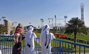 Le Bayern Munich lors d'un entraînement à Doha, au Qatar.