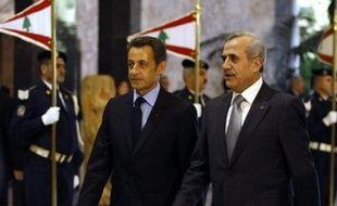 Nicolas Sarkozy s'est ensuite rendu à Beyrouth et retournera mardi en Egypte où il avait débuté lundi sa tournée qui l'a conduit aussi en Israel et Cisjordanie.