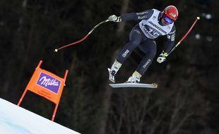 David Poisson en Coupe du monde à Garmisch-Panterkirchen, le 28 janvier 2017.