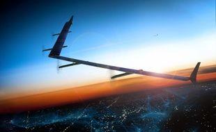 """Avec ses drones """"Aquila"""", Facebook veut étendre l'accès à internet dans les zones reculées."""