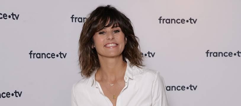 Faustine Bollaert le 18 juin 2019 à la conférence de presse de rentrée de France 2