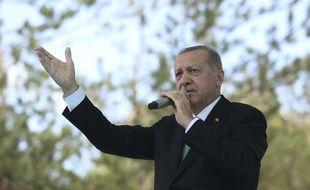Le président turc Recep Tayyip Erdogan à Bayburt, le 10 août 2018.