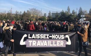 Une manifestation des professionnels de l'hôtellerie et de la restauration a eu lieu ce lundi matin 30 novembre 2020 à Nantes