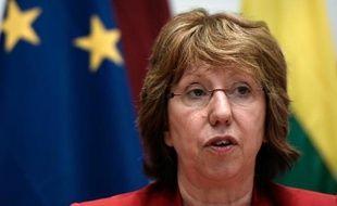 La chef de la diplomatie européenne Catherine Ashton, à Athènes le 5 avril 2014