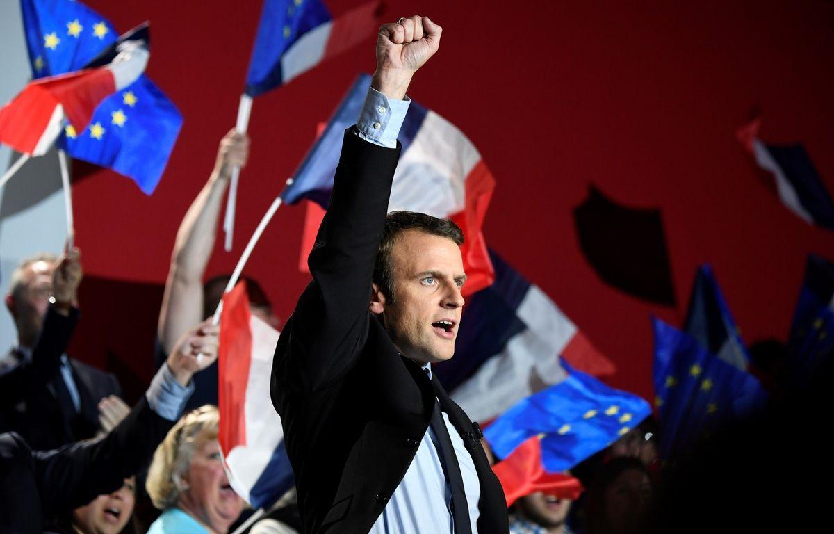 Emmanuel Macron à Arras, le 26 avril 2017. – Eric FEFERBERG / AFP