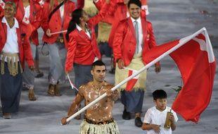 Pita Taufatofua, sportif originaire des Tonga, était déjà le porte-drapeau de son pays lors de la cérémonie d'ouverture des Jeux Olympiques à Rio.