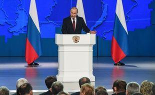 Vladimir Poutine lors de son discours annuel au Parlement, à Moscou le 20 février 2019.