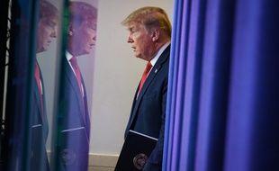 """Le 28 avril, Donald Trump a laissé entendre qu'il comptait demander """"réparation"""" à la Chine dans le cadre de l'épidémie de coronavirus."""