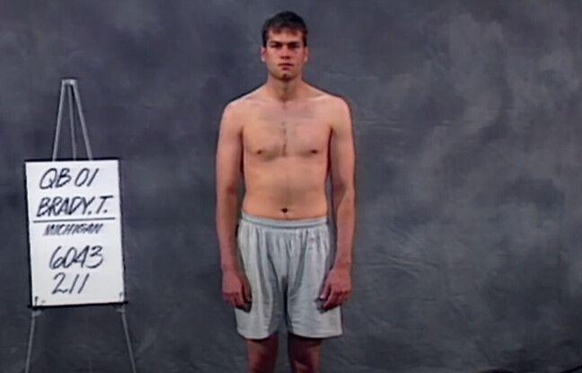 Tom Brady à 23 ans au NFL combine.