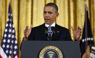 Barack Obama lors de sa grande conférence de presse du 14 novembre 2012.