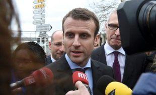 Le ministre de l'Economie Emmanuel Macron, le 6 avril 2016 à Amiens