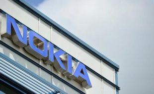 Le logo de Nokia dans un centre de recherche à Ulm, à l'ouest de l'Allemagne, le 14 juin 2012