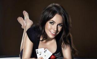 L'Anglaise Liv Boeree, star montante du poker.