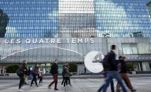Façade du centre commercial Les Quatre Temps à La Défense, près de Paris, le 1er avril 2015