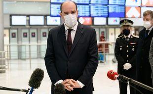 Jean Castex à l'aéroport de Roissy le 25 avril 2021.