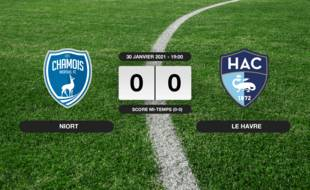 Ligue 2, 22ème journée: Niort et le HAC se quittent dos à dos (0-0)