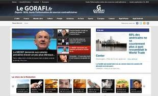 Capture d'écran du site du Gorafi, le 12 septembre 2013.