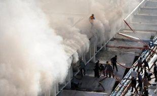 Un important incendie s'est déclaré jeudi à l'hôtel Marriott d'Islamabad qui avait rouvert ses portes fin décembre, trois mois après avoir été dévasté par un attentat suicide, a indiqué la direction de l'établissement.