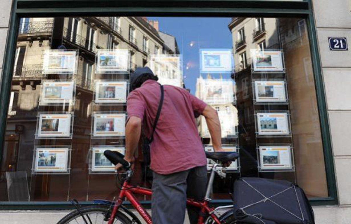 Une agence immobilière à Nantes, le 10 octobre 2011.  – SALOM-GOMIS