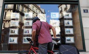 Une agence immobilière à Nantes, le 10 octobre 2011.