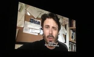 Casey Affleck a adressé un message au public du Festival international de La Roche-sur-Yon (Vendée).