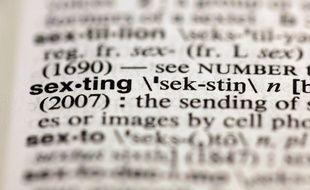La définition du mot «sexting» dans la 11e édition du Merriam-Webster's Collegiate Dictionary, à New York, le 10 août 2012.