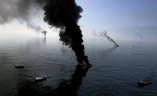 La marée noire dans le Golfe du Mexique, en juin 2010