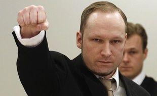 Anders Breivik lors du deuxième jour de son procès à Oslo (Norvège), le 17 avril 2012.
