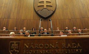 Le parlement slovaque lors du vote du 11 octobre sur l'élargissement du FESF, Bratislava, 11 octobre 2011