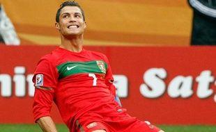 Le Portugais Cristiano Ronaldo va tenter d'inscrire un second but dans le Mondial après son coup de chance contre la Corée du Nord, le 21 juin 2010