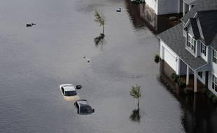 Des maisons inondées en Caroline du Nord après le passage de l'ouragan Florence.
