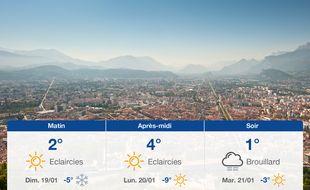 Météo Grenoble: Prévisions du samedi 18 janvier 2020