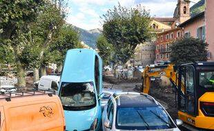Les dégâts causés par la tempête Alex à Breil-sur-Roya