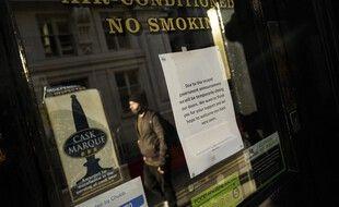 Un pub fermé à Londres en novembre. (archives)