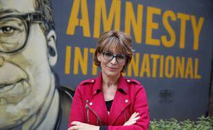 La secrétaire générale d'Amnesty International Agnès Callamard, à Paris le 6 avril 2021.