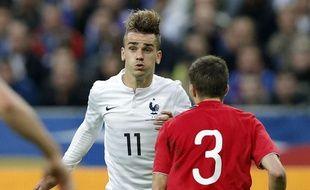 L'attaquant de l'équipe de France, Antoine Griezmann,  lors de la victoire en amical face à la Norvège, 4-0, le 27 mai 2014.