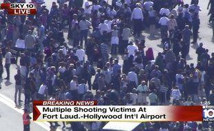 Une fusillade a l'aéroport de Fort Lauderdate-Hollywood a fait au moins 4 morts, le 6 janvier 2016.