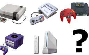 Les consoles de salon de Nintendo (de gauche à droite et de haut en bas: la NES, la SNES, la Nintendo 64, la Gamecube et la Wii)
