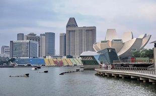 Vue de la promenade de Marina Bay à Singapour, le 4 mars 2014