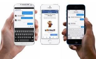 L'app Facebook Messenger sur iOS et Android.